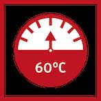 Výstupní teplota 60 °C